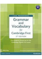 Obal knihy Grammar and Vocabulary for First Certificate EN