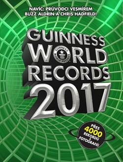 Obal knihy Guinness World Records 2017 CZ