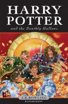 Obal knihy Harry Potter and the Deathly Hallows EN